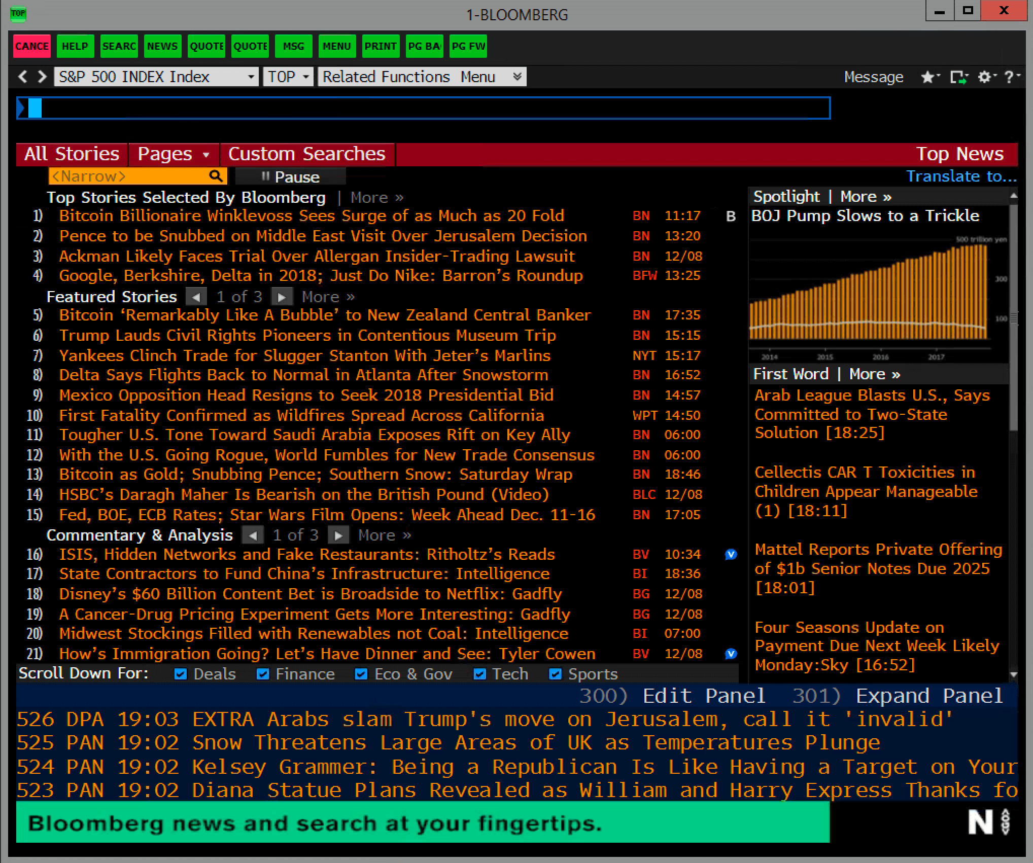 Bloomberg Terminal News