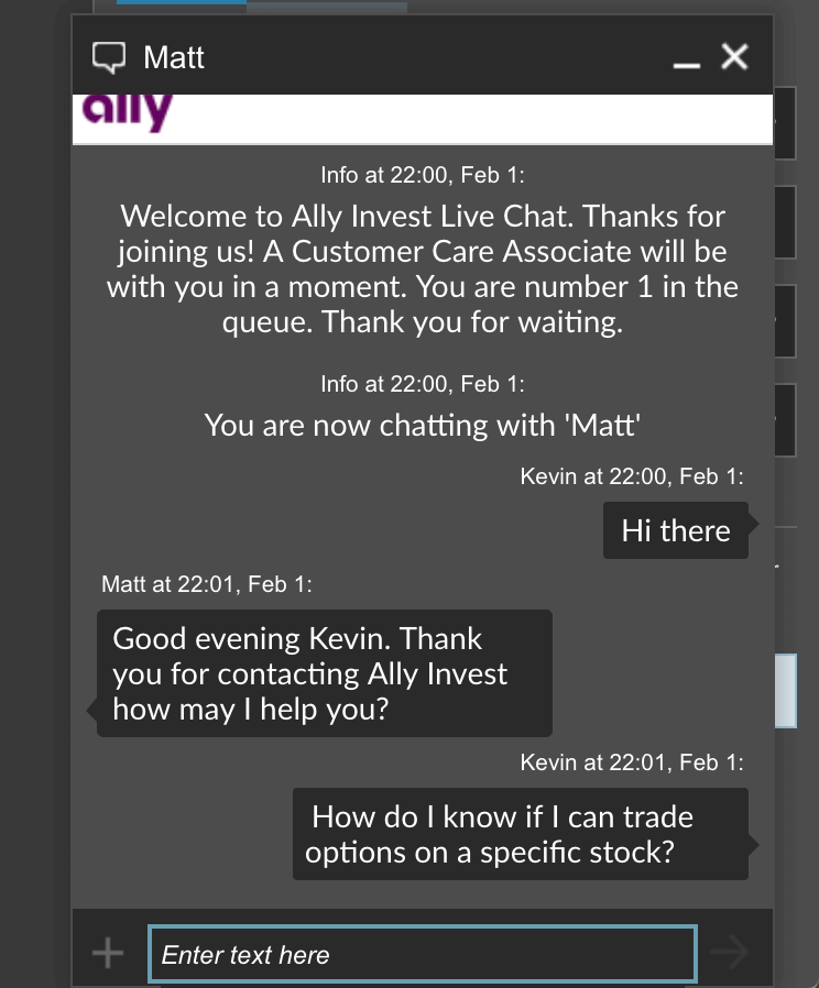 Ally Invest Customer Service Review